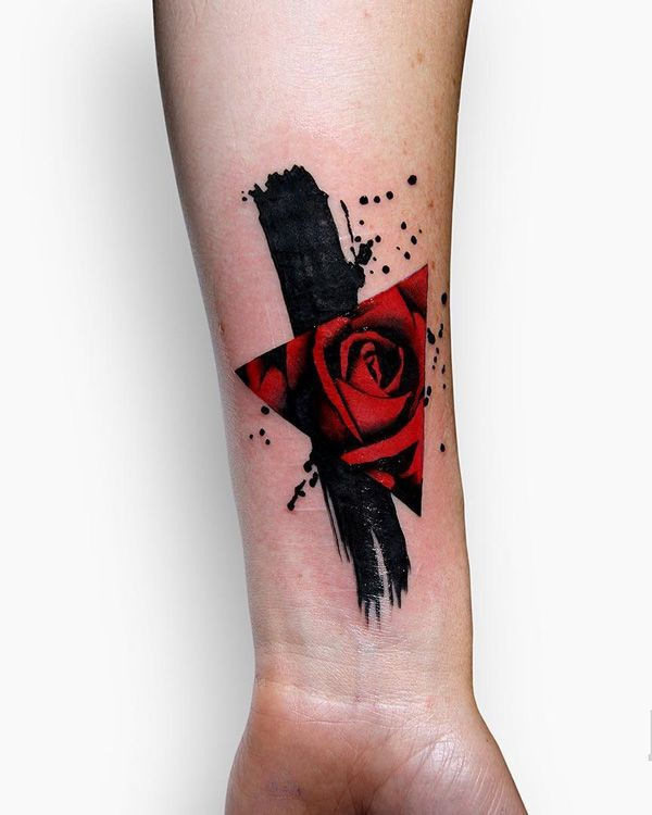 triangular-glyph-tattoo-40 - 35 Cute Triangle Glyph Tattoos
