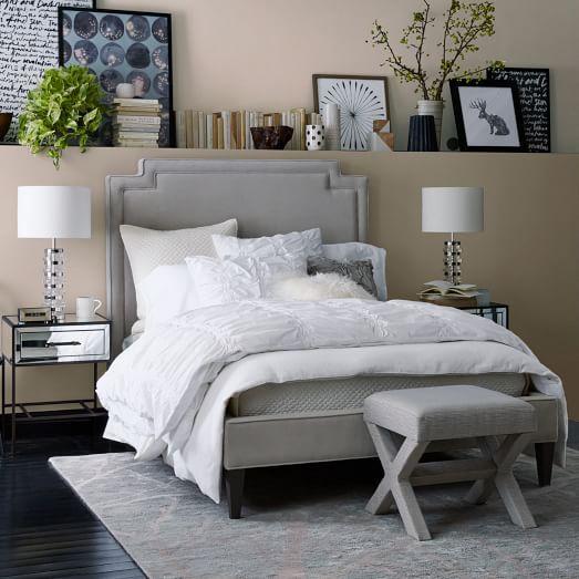 velvet harlow upholstered bed west elm more bed westelm bedroom colors