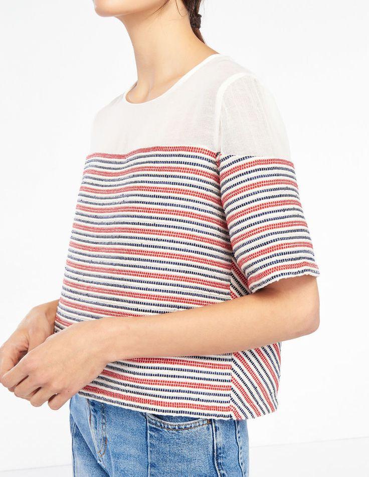 Kurzes Top Mit Streifen - Tops & Hemden - Sandro Paris