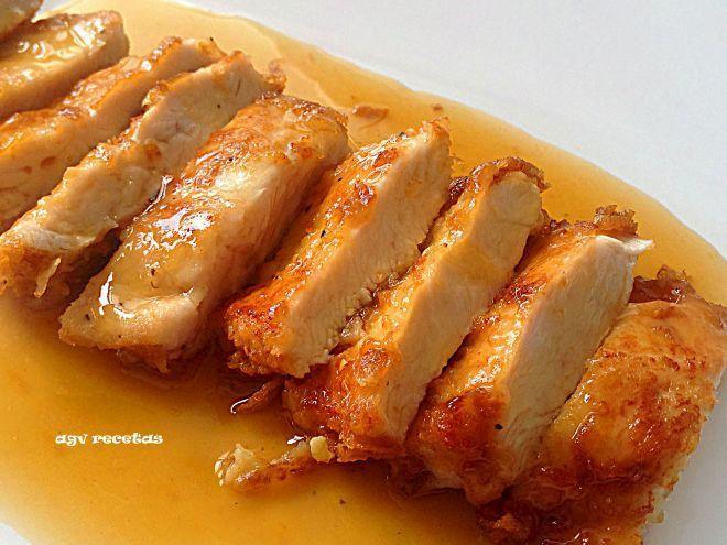 Receta Plato : Pollo al limón chino por Agvrecetas