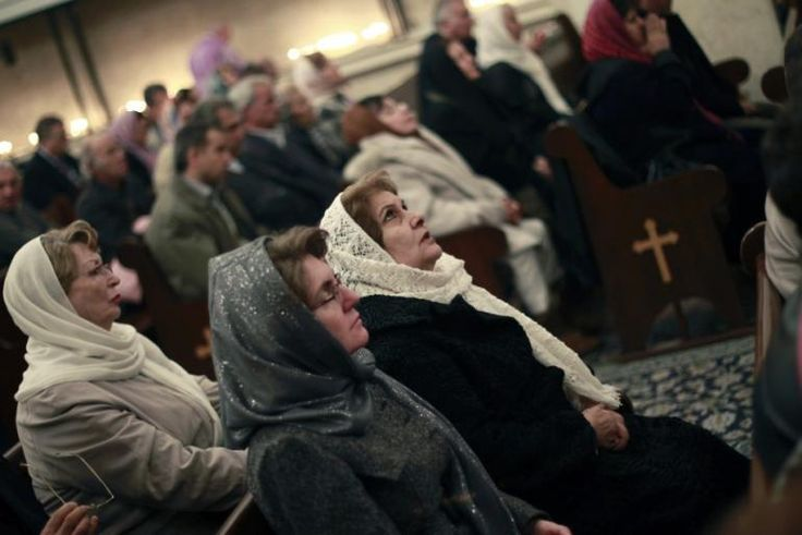 Fastest Growing Christian Population in Iran.  Christian women attend a New Year mass at Saint Serkis church in central Tehran on January 1, 2011. Reuters <br/>