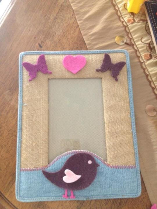 photo frame made with felt and sizzix machine