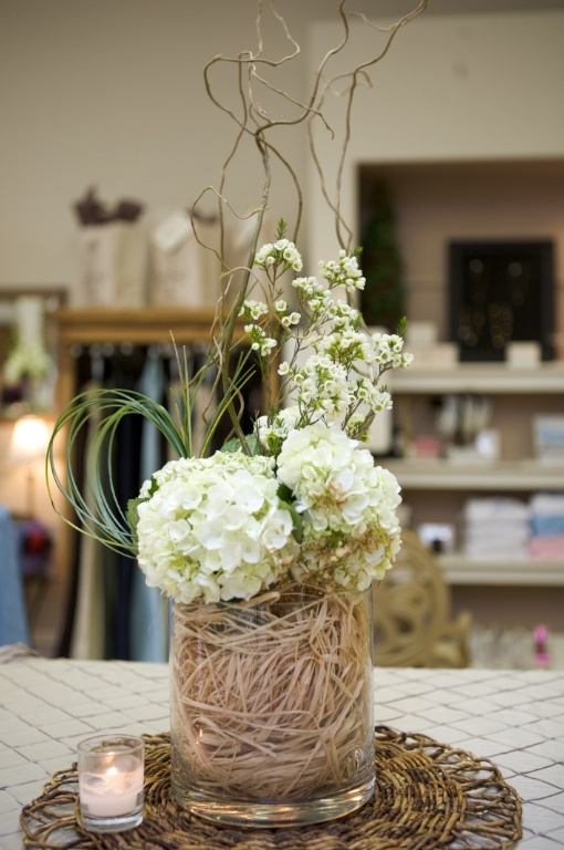 Curly Willow Centerpieces And Hydrangeas On Pinterest