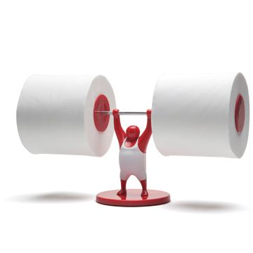 Unusual toilet paper hanger - for a Dad with sense of humour :)