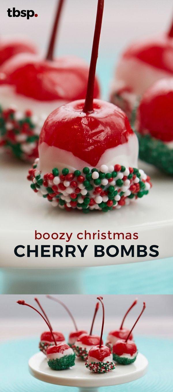 Boozy Christmas Cherry Bombs