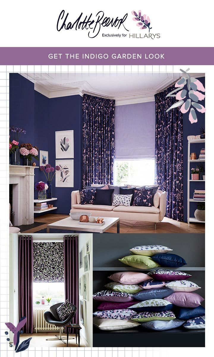 Inspired by the gardens at Kew, British designer Charlotte Beevor has created a contemporary collection of Roman blind and curtain fabrics featuring bold, painterly brushstrokes in intensely rich shades. Together with a shimmering selection of faux-silk fabrics and earthy textured plains, the Indigo Garden collection gives you a whole house worth of inspirational combinations to choose from. hillarys.co.uk