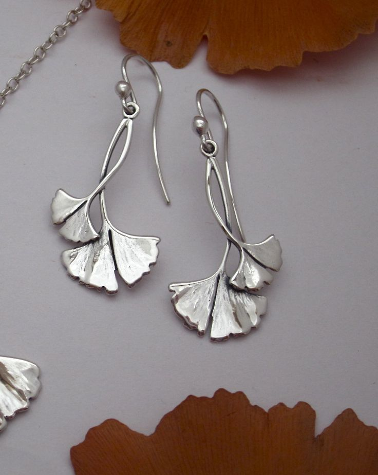 Caracol - Inspired Jewelry and Handbags - Ginko Leaf Earrings, $54.00 (http://www.caracolsilver.com/ginko-leaf-earrings/)