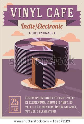 Vinyl cafe poster