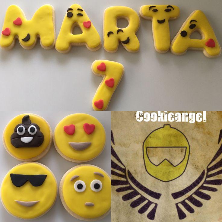 Los emojis están de moda y así lo hemos hecho #lactosefree #cookies #emoji #party #birthdaycelebration