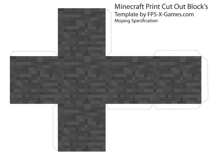 Minecraft Cube's - Printable Cut Out Block's ~ FPSX Games