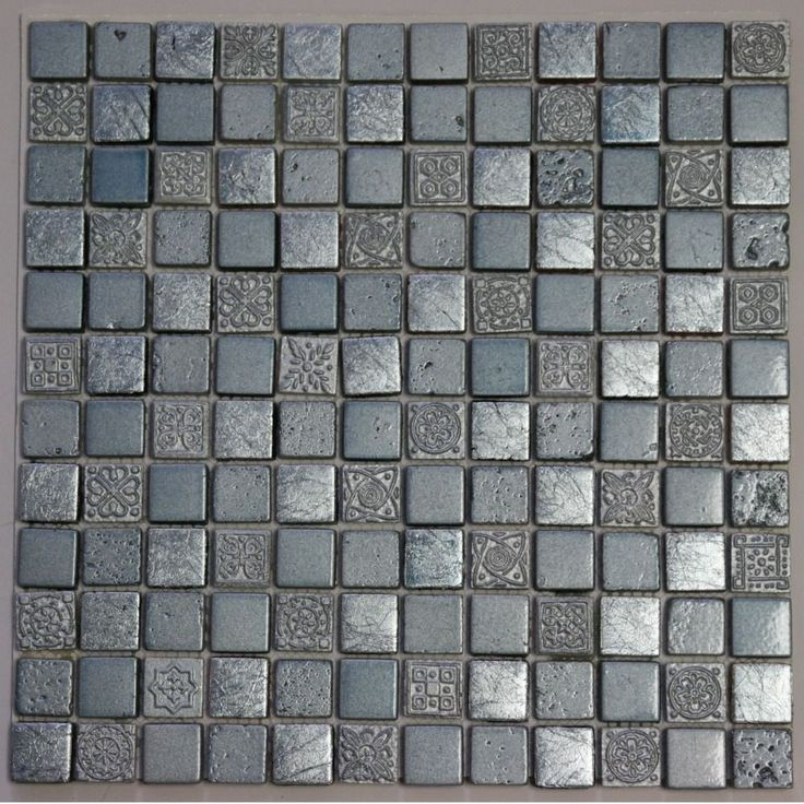 Silver Blue Engraving Mosaic Stone 11.75-inch Square Wall Tiles - Overstock™ Shopping - Big Discounts on Wall Tiles