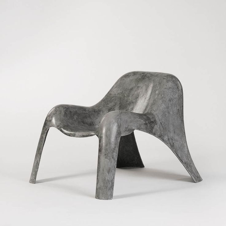 Paulsberg Möbel, Spurt Chair (made of a single sheet of carbon-textile reinforced concrete), 2010.
