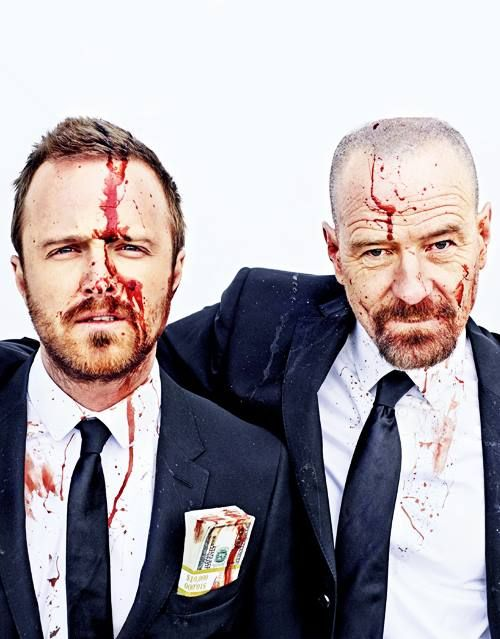 Jessi Pinkman and Walter White...Breaking Bad