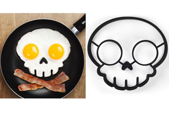 Have a HeARRRty Breakfast with a Funny Side Up Egg Mold - Best gear and gadgets for men. The place to find cool stuff for guys.