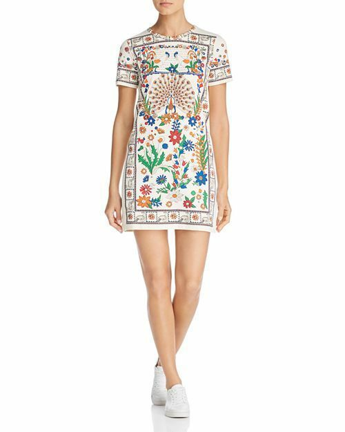 bc7685f7be0a TORY BURCH Kerry Dress Ivory Peacock Meadow 995 Print 100% Cotton NWOT Size  M #ToryBurch #TShirtDress