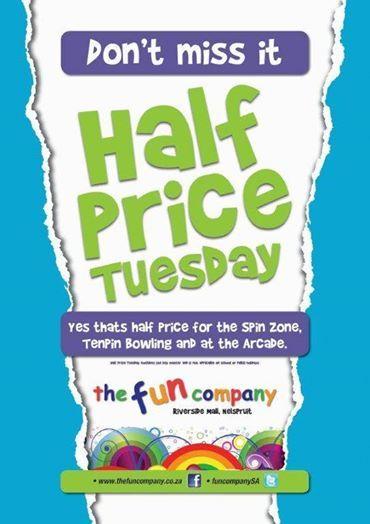 Half Price Tuesdays @ Riverside Mall
