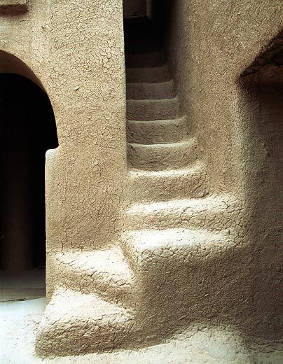Kargue, Mali - Mud architecture | by Dogon-lobi photography. African architecture (Step Stairs Stairways)