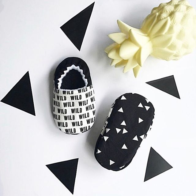 Stay Wild monochrome babyshoes :) @kyokibabygear on Instagram