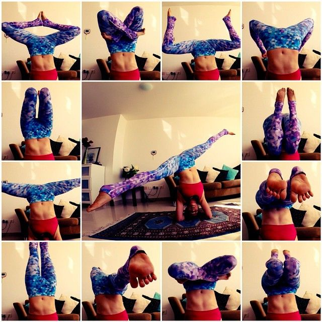 """""""Leg #variations for #headstands. #yoga #training #fitness ..."""