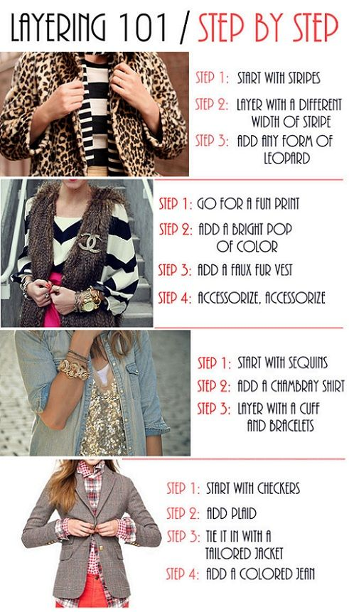 layering: Idea, Layering 101, Style, Fashion Infographic, Clothes, Layering101, Outfit, Fashion Tips, Closet