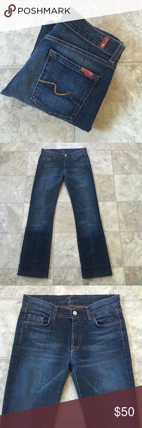 "7 For All Mankind Mens Bootcut Jeans Size 29 X 30 7 For All Mankind Mens Bootcut Jeans Size 29 X 30 Inseam 30 Hemmed Jeans Across the waist 14.5"" W 29 SAME DAY SHIPPING! SMOKE FREE HOME! MINT CONDITION  ALL OFFERS CONSIDERED 7 For All Mankind Jeans Bootcut #mensjeansbootcut"