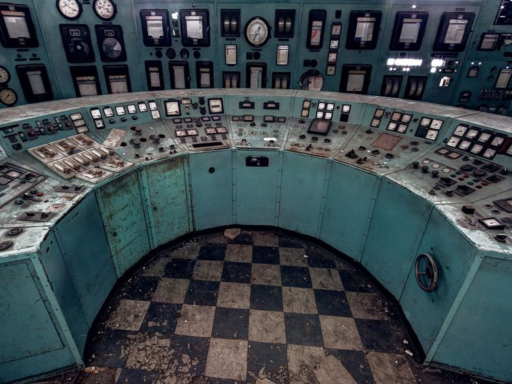 """Matt Emmett is a prolific urbex (""""urban explorer"""") photographer, working in Europe. He shoots locations that are off limits to the public, like this control room panel from a long-abandoned power plant in Belgium.:"""