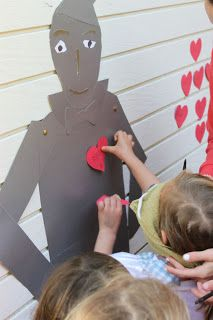 Wizard of Oz Pin the Heart on the Tin Man game