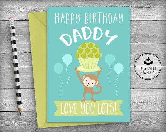 Dad birthday card father 39 s birthday card for dad dad - I love you daddy download ...