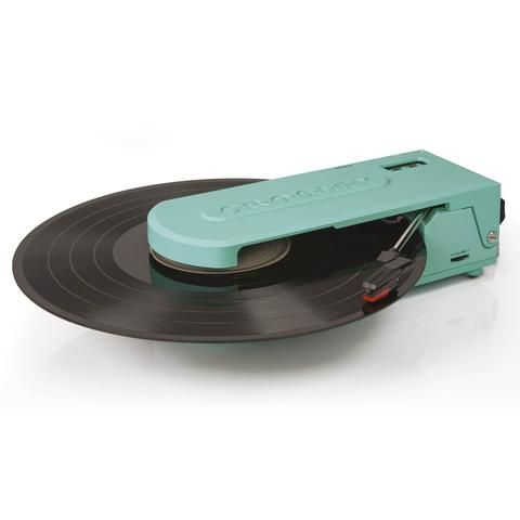 """Taking the record player """"out of the box"""", Crosley's Revolution™ turntable truly fits the word in every way. It is a turntable of firsts. The first battery-powered Crosley turntable and it's the first"""
