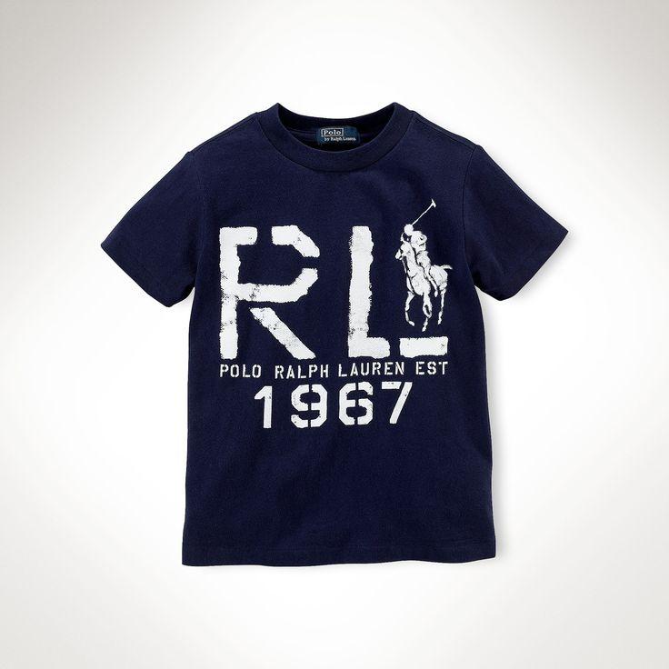 Polo Ralph Lauren Infantil Camiseta RL Azul Marinho R$ 79