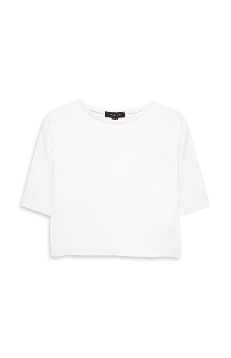 Primark - White Loose Crop Top