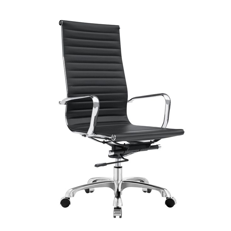 This stunning chair is ideal for any office setting with its adjustable height and ribbed seating. It is conveniently available in a variety of colors.