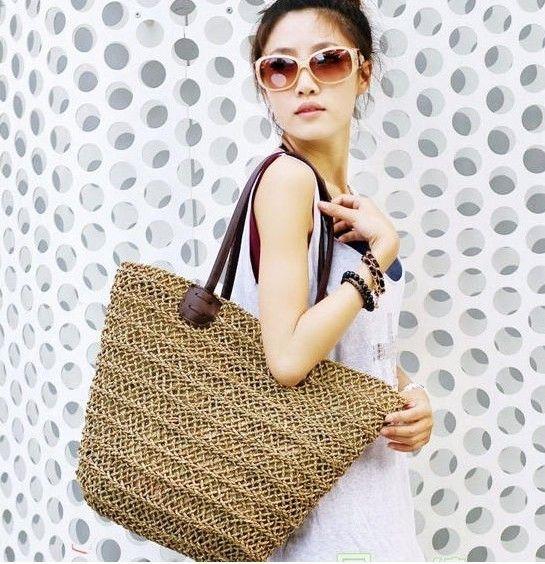 2014 новинка женщин на ремне сумки сумки мешок соломы женщины лето пляжная сумка сплетенный мешок, принадлежащий категории перемётные сумки и относящийся к Багаж и сумки на сайте AliExpress.com   Alibaba Group