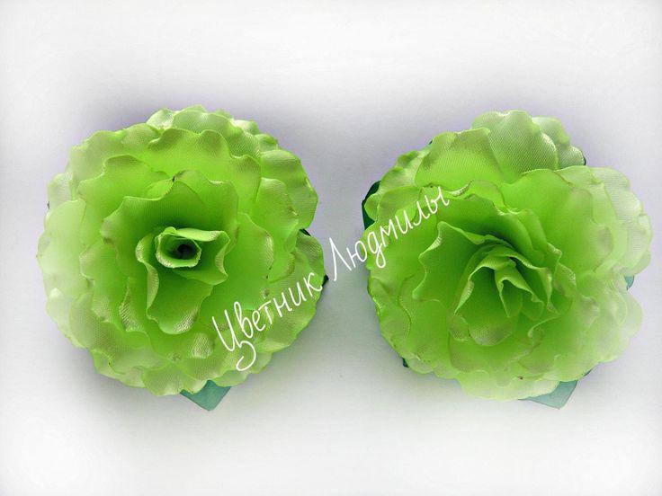Цветы из лент канзаши \  Flowers of the tapes kanzashi \ мастер класс \ DIY