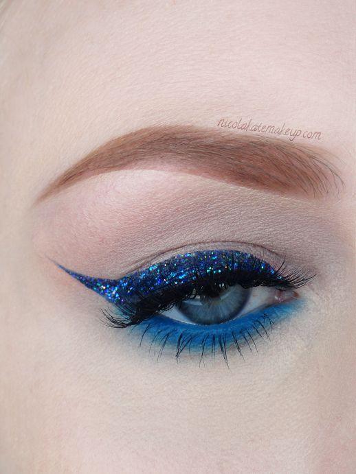 Nicola Kate Makeup - cobalt glitter