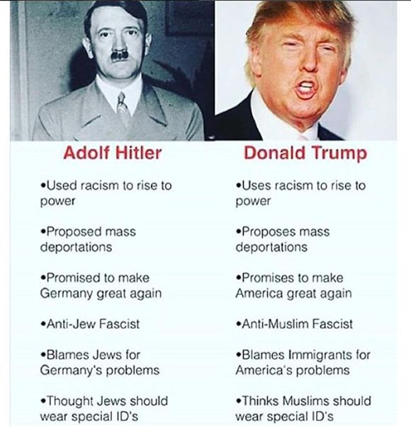 donald trump adolf hitler | The Comparison Between Donald Trump & Hitler Is Uncanny, As White ...