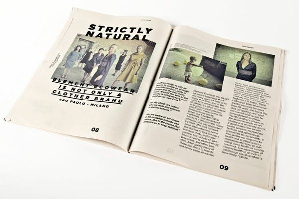 Tealer Brand - Newspaper Margarida Borges | MagSpreads | Magazine Layout Inspiration and Editorial Design