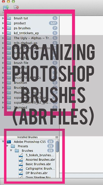 organizing photoshop brushes | mrshobbes inspired.