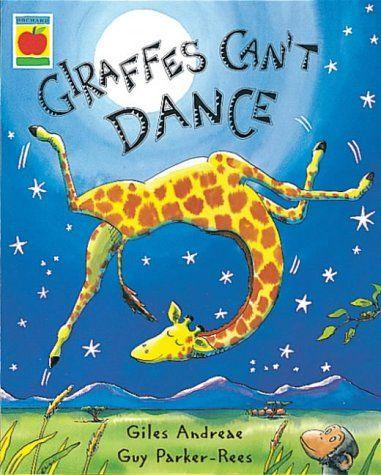 Giraffes can't dance. (Giles Andrede, Guy Parker-Rees). +3 anni Ne è protagonista una giraffa che, come tutte le giraffe, non è capace di ballare. Ma sarà davvero così? È un racconto sul valore della differenza e dell'impegno per la crescita personale. Belle le illustrazioni e i colori. Un testo ottimista e con dettagli graziosi.