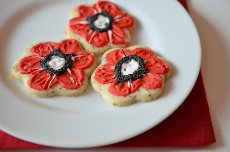 Rememberance Day Lemon Poppyseed cookies