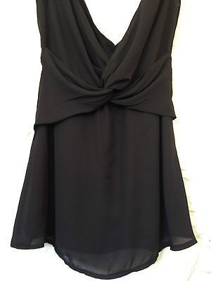 Ladies Beautiful Life Black Plunge Neck Cotton Dress - Size 10 - RRP $85 - BNWT  Now selling - Click through to go to eBay auction!