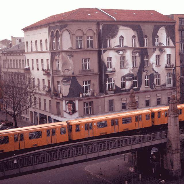 ღღ Rone New Street Art - Berlin, Germany