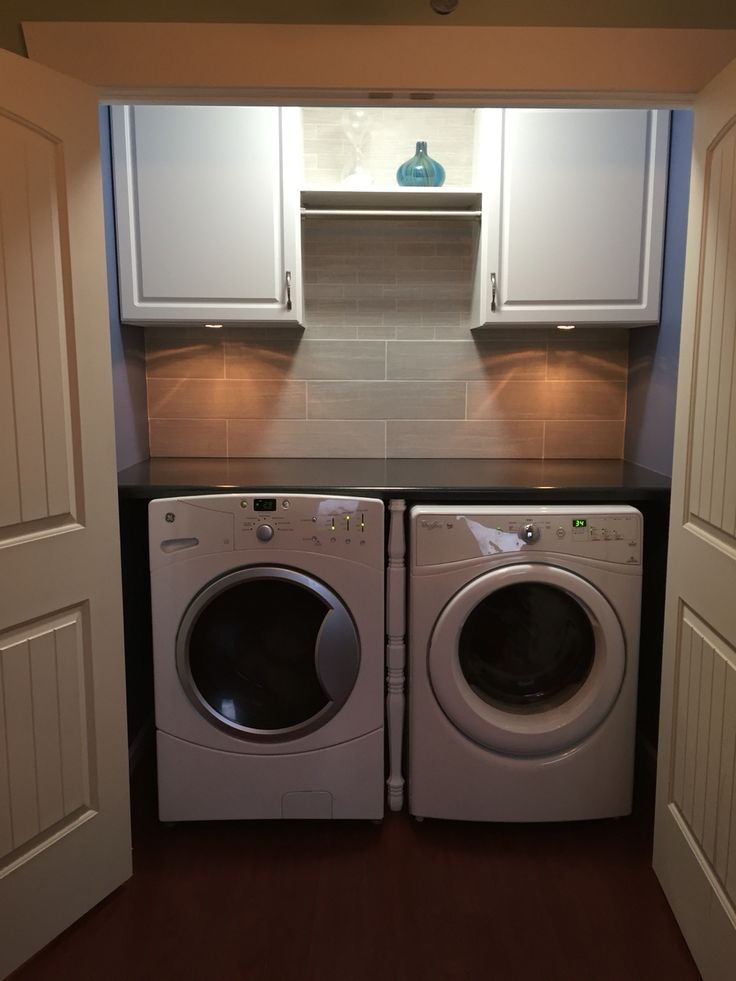 Our new laundry. I took ideas from different places and we created our own.