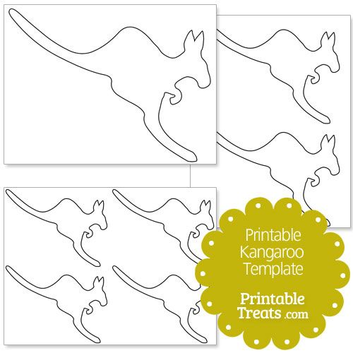 Printable Kangaroo Template from PrintableTreats.com