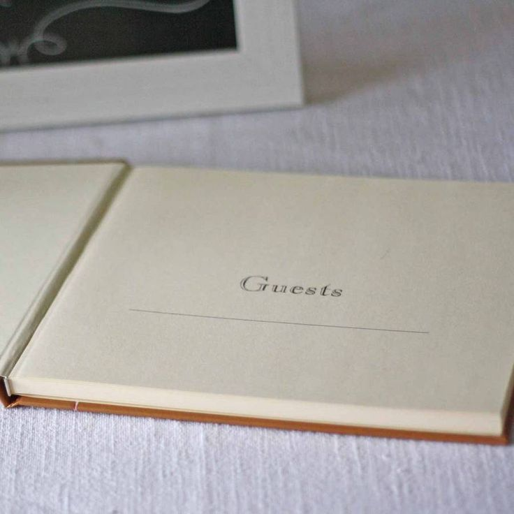 bridal shower keepsake book%0A Wedding Guest Book Brown Paper Tied Up With String