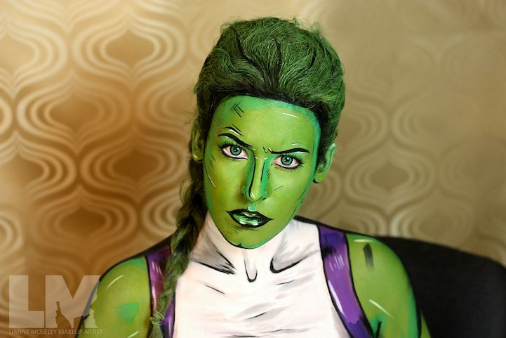 Marvel Comic Book Characters Unleashed Through Amazing Body Painting Transformations - My Modern Met