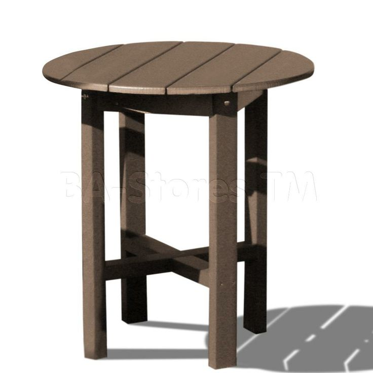 Small Wood Tall Table | Outdoor Tables: Tall 28