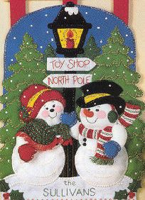 Bucilla Mr & Mrs Snowman Wall Hanging Kit  by SCMShoppingSpree, $42.99