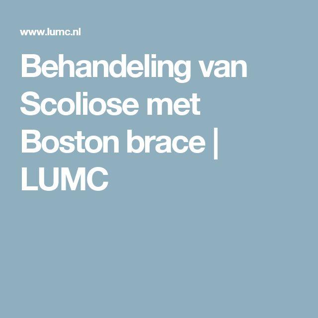 Behandeling van Scoliose met Boston brace | LUMC