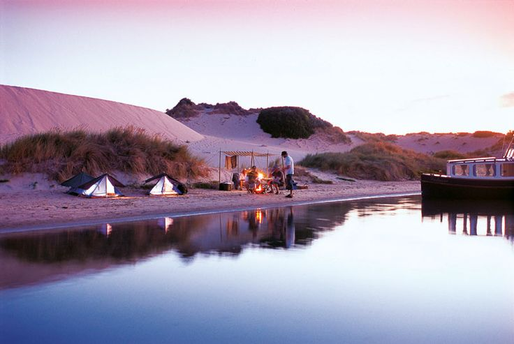 Beach camping in Coorong National Park along South Australia's Limestone Coast